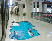 3D PVC commercial advertising flooring