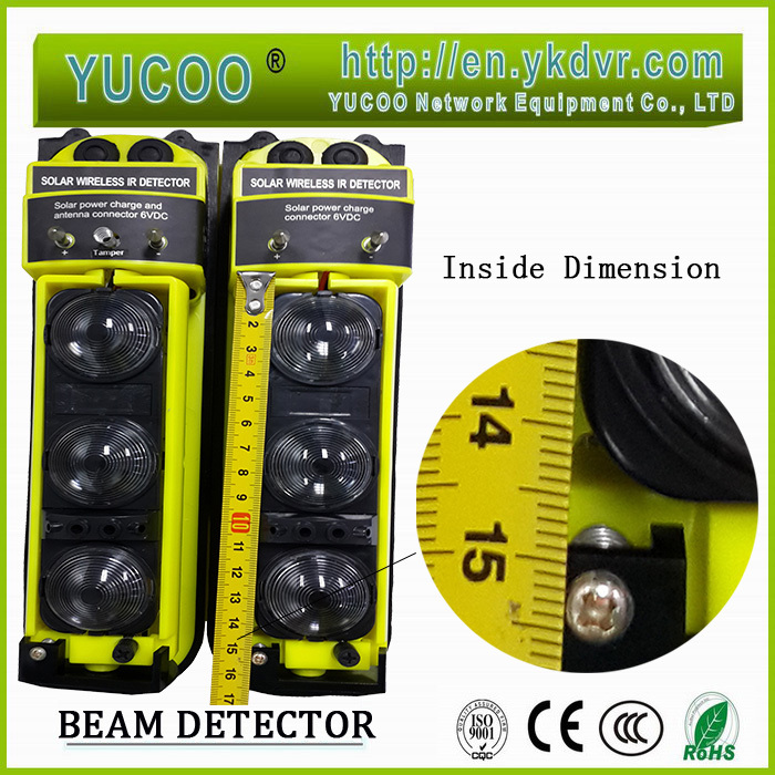 water proof Outdoor yard multi-beam infrared sensor with 2 beams for 20-100 meters