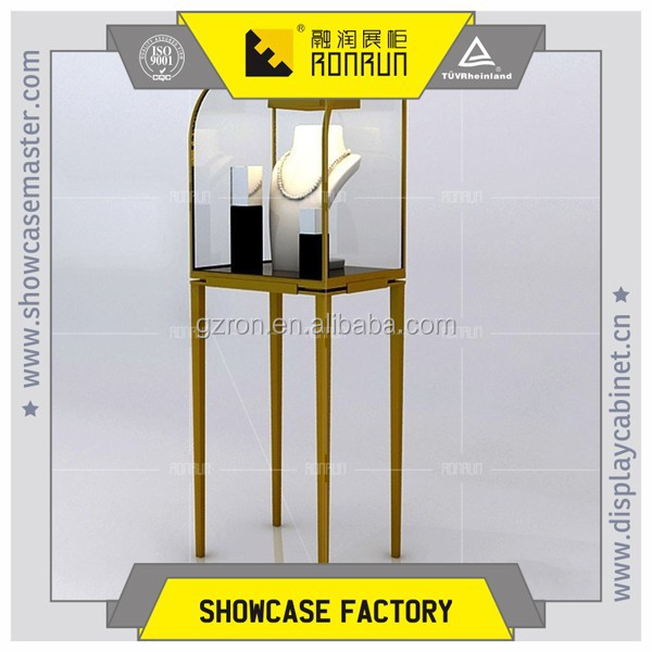 Fashionable rose gloden stainless steel jewelry display stand,jewelry shop furniture for sales