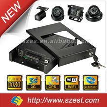 "1080P 2.5"" 2TB HDD SSD Car DVR G-Sensor GPS WIFI 3G Vehicle Video Tracking System"