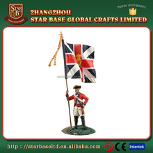 Top quality english soldier figures custom made fashion metal sculpture