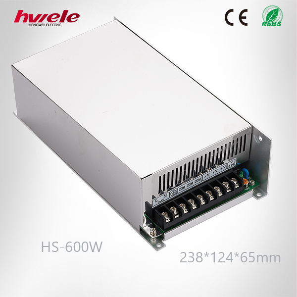 HS-600W SMPS/PSU 220v 12v 50a power supply for LED with CE ROHS CCC KC TUV certification