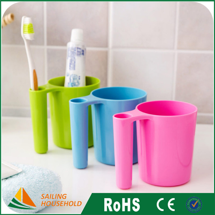 Competitive price toothbrush cup, bathroom plastic cups, plastic cup with logo printed