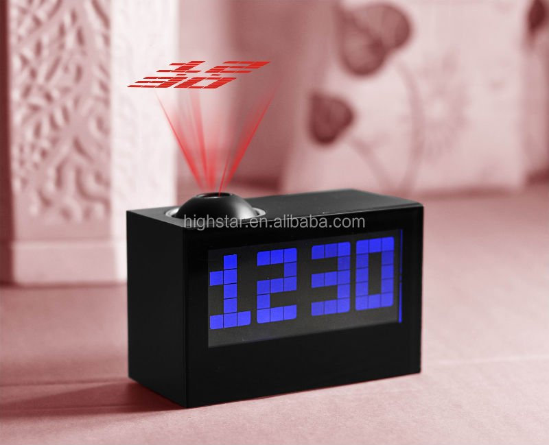 home decor Muilt-function Digital LCD Projector Clock with Radio