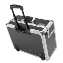 Aluminium Pilot Case Flight Travel Wheeled Box Suitcase Luggage laptop Carry Box