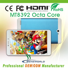 7inch octa core tablette pc with android 4.4 kitkat O.S. ,MT8392 1gb ram 8gb rom 3g wifi bluetooth gps fm supported