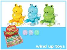 funny plastic frog toy -wind up toy