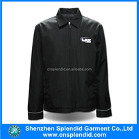 Wholesale high quality men black polyester jackets