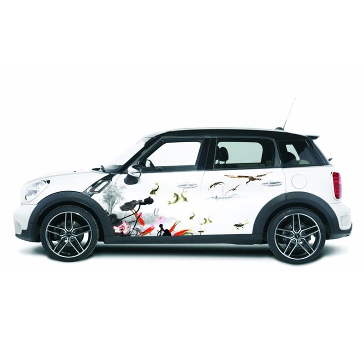 Hot selling high quality car body side sticker design