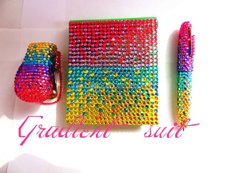 Colorful set with diamond make up set