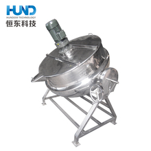 Electric steam boiling pan for jaggery with jacket