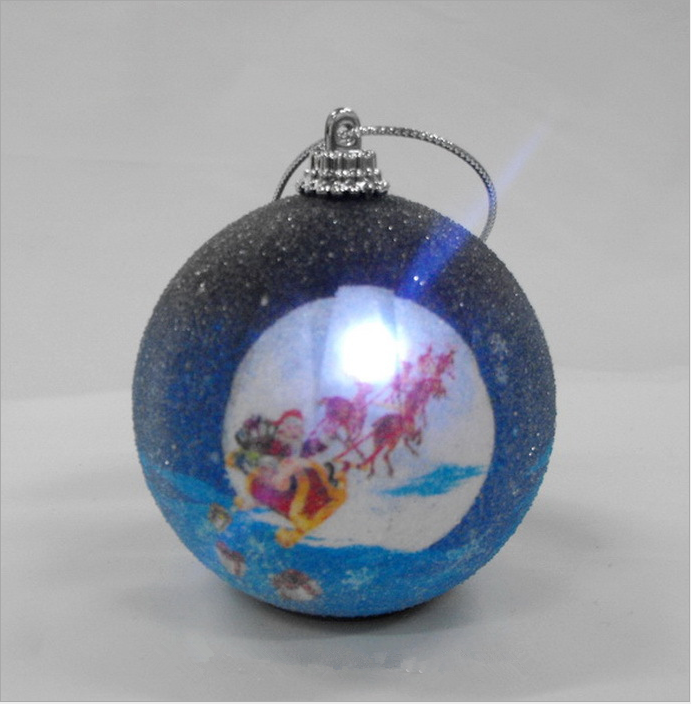 3D outdoor lighted christmas balls and luminous christmas balls