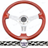 350mm chrome spoke billet steering wheel, e46 m3 steering wheel control interface