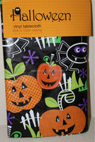 "Halloween pumpkins/spiders plastic tablecloth---60""*102"""