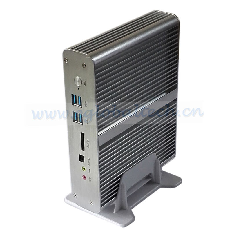 Small Computer BroadWell Fifth 8G RAM 512G SSD Fanless Industrial Mini PC Sever Atom Intel Core i7 5500u with Dual Lan 12V 4K HD