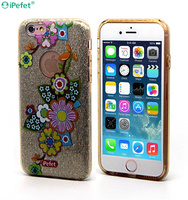 Guangzhou Mobile Phone Accessories Luxury Bling Diamond Frame Soft Silicone Cover PC Case