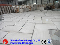 Chinese white wood grain marble 30x60 floor tiles cheap price
