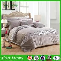 cheap 100% cotton bright color bed sheet sets with low price