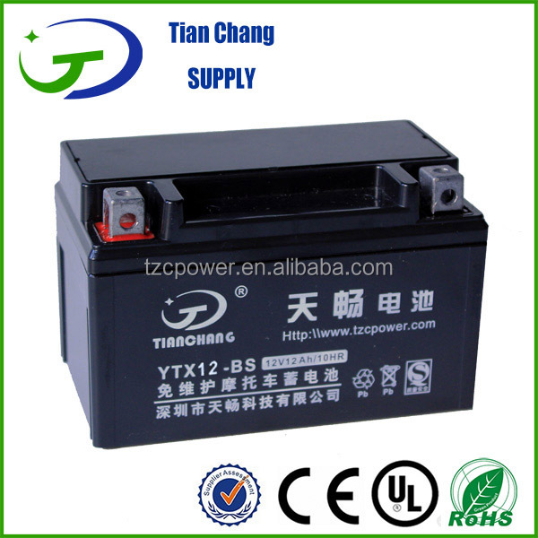 12V 20Ah High Quality Maintenance Free MF SLA AGM Motorcycle Motor Non-spillable bike Scooter Dry Battery