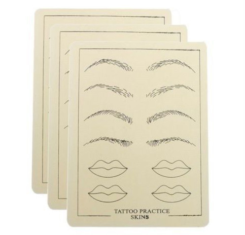 Rubber combine tattoo practice skin for eye eyeliner lip, cosmetic permanent makeup practice skin