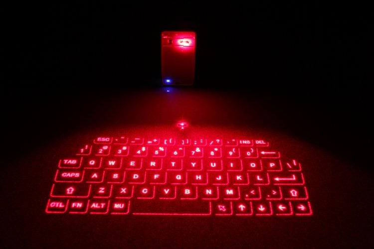 High speed portable virtual laser projection keyboard for Tablet or smart phone