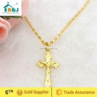 Small metal cross pendant