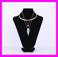 2017 Wholesale fashion lady jewelry gold necklace set designs HJ2072
