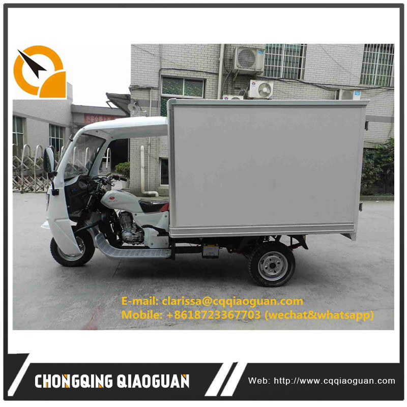 China Hot sale 200CC half colsed ice cream refrigerated three wheels motorcycle