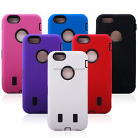 3 in 1 pc silicone robot case for iphone 6 4.7 mix color