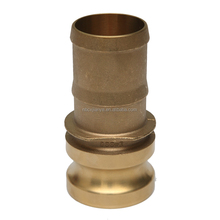 Brass Camlock Quick Coupling Type E / Male Coupler X Hose Shank