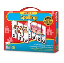 Wholesale match it spelling <strong>kids</strong> puzzle preschool educational toy brain development jigsaw puzzle