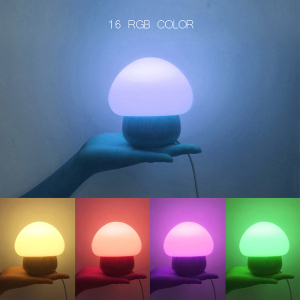 2017 best selling product Portable Stereo Led Mushroom Table Lamp