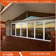 YY Home high quality aluminium glass sliding door with security screen door