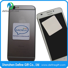 Full color printed Free Sample Adhensive Microfiber Cell Phone Cleaner Sticker