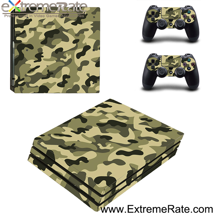 Decal Cover Hot Selling Army Series and Alibaba Express Skin Cover for PS4 Pro console and controller