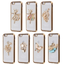 Wholesale 20% discount TPU Case with Dianmand Elegant Ballet Dancer for iPhone 6&6S