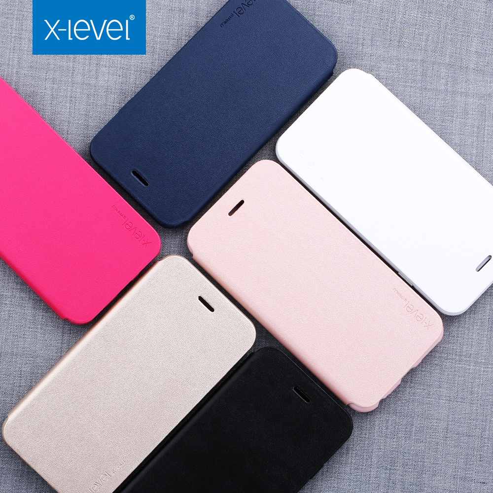 Free shipping X-Level high quality pu leather flip mobile phone case for iphone 6 6s luxury case