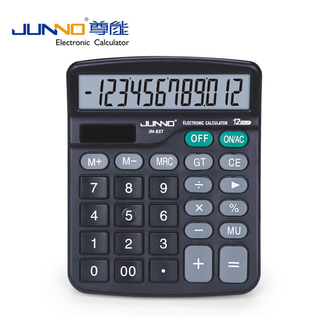 Durable gift sloar power calculator,colorful desktop calculator JN-837