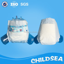 Soft Breathable PE Film Disposable Baby Diaper