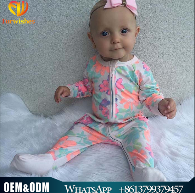 Bulk wholesale newborn baby zipper romper infant baby clothes long sleeve fall jumpsuit cotton one-piece climb zipper romper