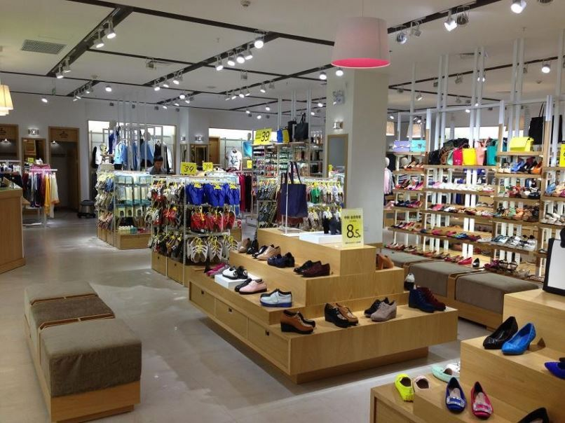 factory china Mall display rack shoe shop for nike