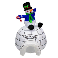 Airblown Inflatable snowman rotating