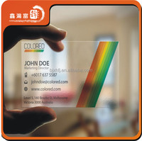 New product plastic clear business cards with custom design