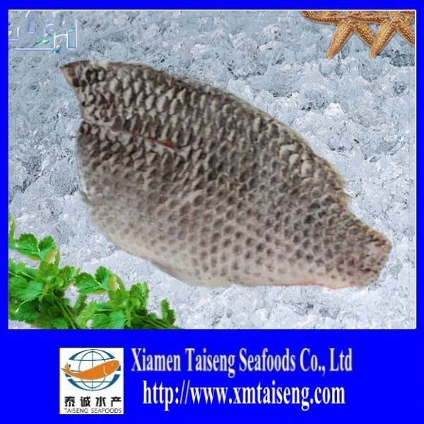 Baby Part Tilapia Fillet Skin-on IQF Fillet Frozen Fish On Sale