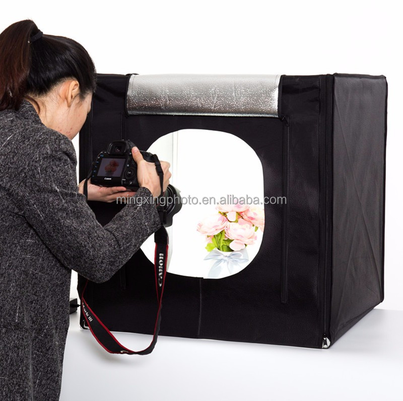 portable 60cm shooting cube LED mini photo studio light tent kit