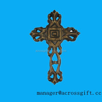 12 Inch Decorative Hand Painted Resin Wall Cross