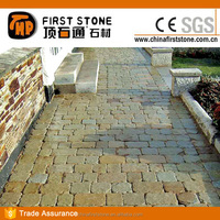 HS014 Rust And Grey Slate Tumbled Stone Pavers