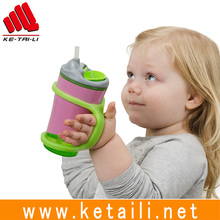 OEM Elastic Durable Food grade Colorful Silicone bottle holder band for kids/outdoor sports