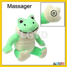 Best Selling Cute Frog Style Massager Hot Cold Therapy Health Care Item with Removable Hot Cold Gel Pack