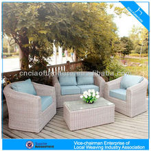 Outdoor Wicker Rattan Sectional Sectional corner sofa furniture / garden rattan sofa set SO-006